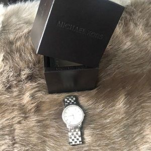 Michael Kors Silver diamond watch